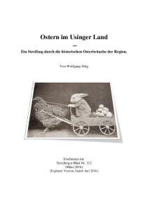 Ostern im Usinger Land
