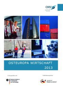 Osteuropa Wirtschaft In Kooperation mit. Publikationspartner