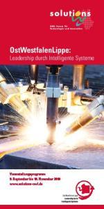OstWestfalenLippe: Leadership durch Intelligente Systeme