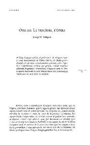 OTEL-LO. LA TRAGEDIA, L'OPERA