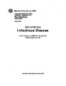 OTEP 620 Infectious Disease