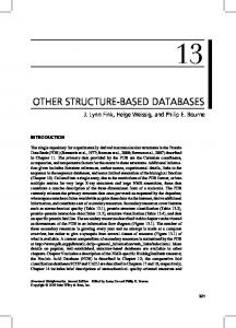 OTHER STRUCTURE-BASED DATABASES