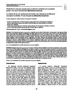 Otolith Sr:Ca ratio and morphometry as indicators of habitat of a euryhaline species: The case of the silverside Odontesthes bonariensis