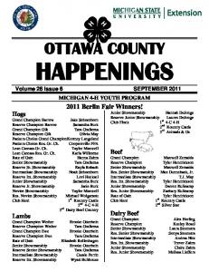 OTTAWA COUNTY HAPPENINGS