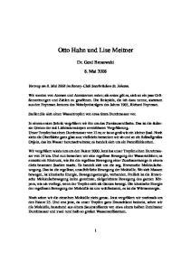 Otto Hahn und Lise Meitner