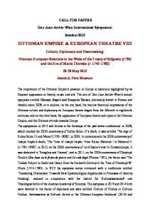 OTTOMAN EMPIRE & EUROPEAN THEATRE VIII