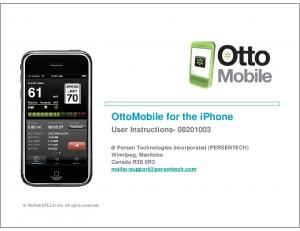 OttoMobile for the iphone