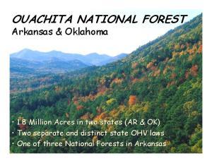 OUACHITA NATIONAL FOREST Arkansas & Oklahoma