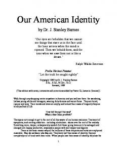 Our American Identity