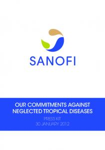 OUR COMMITMENTS AGAINST NEGLECTED TROPICAL DISEASES
