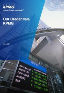 Our Credentials KPMG