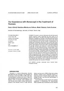 Our Experience with Etanercept in the Treatment of Psoriasis