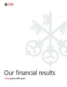Our financial results