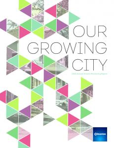 OUR GROWING CITY Annual Growth Monitoring Report