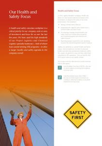 Our Health and Safety Focus