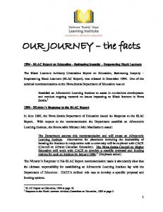 OUR JOURNEY the facts