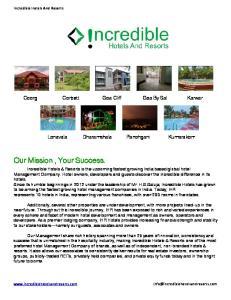 Our Mission, Your Success