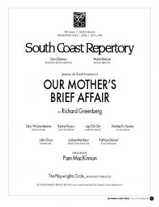 OUR MOTHER S BRIEF AFFAIR