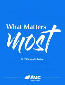 Our People Our Policyholders. What Matters. Our Agents Corporate Review. Our Communities Our Future