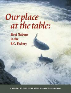 Our place at thetable: First Nations in the B.C. Fishery