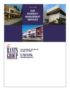 OUR PROPERTY MANAGEMENT SERVICES