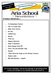 Our school newsletter, notices and calendar of upcoming school events are available on our website