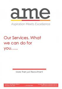 Our Services. What we can do for you