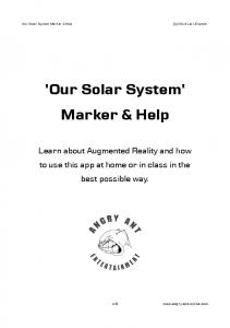 Our Solar System Marker & Help