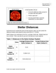Our Star, the Sun In this Exploration, find out: ! What is a light year? Stellar Distances