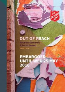 OUT OF REACH. National Economic & Social Impact SURVEY 2016