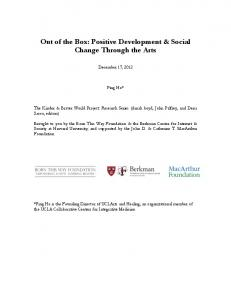 Out of the Box: Positive Development & Social Change Through the Arts