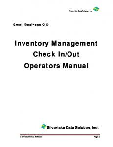 Out Operators Manual