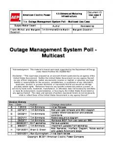 Outage Management System Poll - Multicast