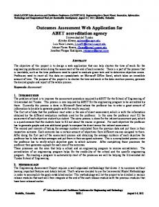 Outcomes Assessment Web Application for ABET accreditation agency