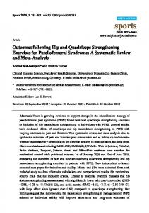 Outcomes following Hip and Quadriceps Strengthening Exercises for Patellofemoral Syndrome: A Systematic Review and Meta-Analysis