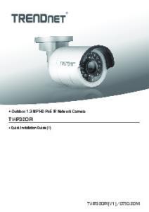 Outdoor 1.3 MP HD PoE IR Network Camera TV-IP320PI