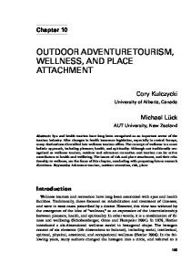 OUTDOOR ADVENTURE TOURISM, WELLNESS, AND PLACE ATTACHMENT