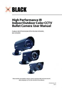 Outdoor Color CCTV Bullet Camera User Manual