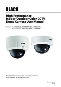 Outdoor Color CCTV Dome Camera User Manual
