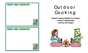 Outdoor Cooking. Outdoor Cooking Guidelines For Campers Outdoor Cooking Recipes Add Your Own Recipes