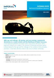 OUTDOOR COVER Mechanical Breakdown Insurance