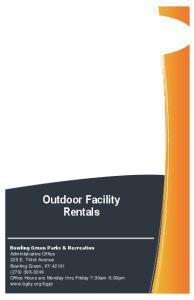 Outdoor Facility Rentals