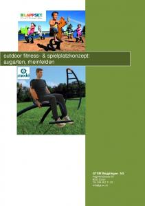 outdoor fitness- & spielplatzkonzept: augarten, rheinfelden