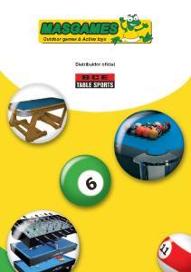Outdoor games & Active toys. Distribuidor oficial