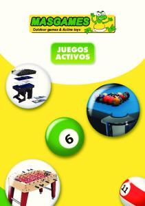 Outdoor games & Active toys JUEGOS ACTIVOS