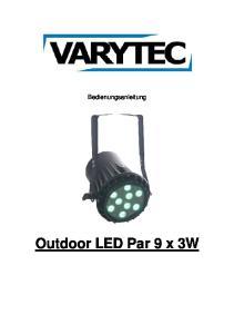 Outdoor LED Par 9 x 3W