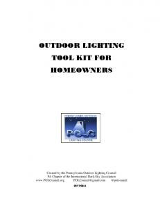 OUTDOOR LIGHTING TOOL KIT FOR HOMEOWNERS