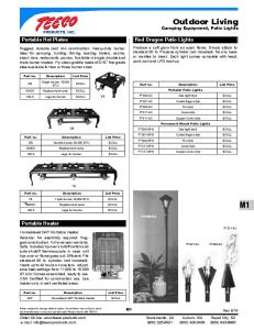 Outdoor Living Camping Equipment, Patio Lights