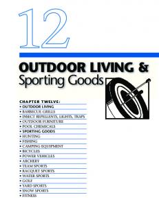 OUTDOOR LIVING & Sporting Goods