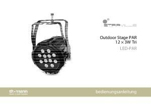 Outdoor Stage PAR 12 3W Tri LED-PAR. bedienungsanleitung